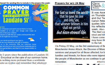 Prayer Booklet from Walmsley Parish 24th May