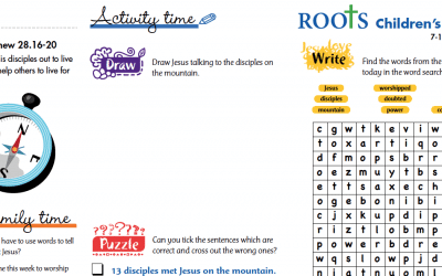 Roots Children's Sheet 7th – 13th June