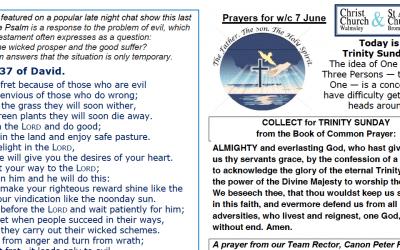 Prayer Booklet from Walmsley Parish Trinity Sunday 7th June