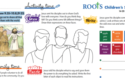 Roots Children's Sheet 14th – 20th June