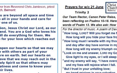 Prayer Booklet from Walmsley Parish Trinity Sunday 21st June