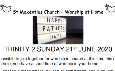 Sunday Worship to Read by St Maxentius Sunday 21st June Trinity 2