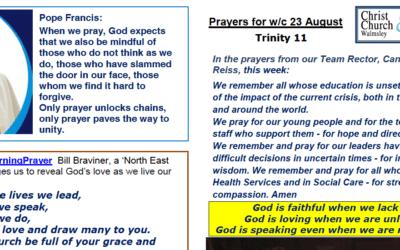 Prayer Booklet from Walmsley Parish Sunday 23rd Aug