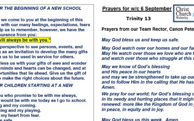 Prayer Booklet from Walmsley Parish Sunday 6th Sept