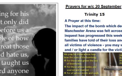 Prayer Booklet from Walmsley Parish Sunday 20th Sept