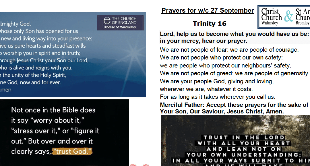 Prayer Booklet from Walmsley Parish Sunday 27th Sept