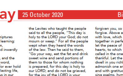 Liturgy Pew Sheet for Sunday 25th Oct