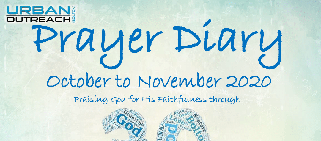 Urban Outreach Prayer Diary October and November 2020