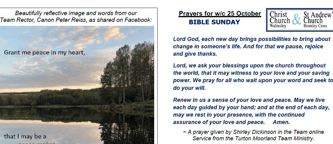 Prayer Booklet from Walmsley Parish Sunday 25th Oct