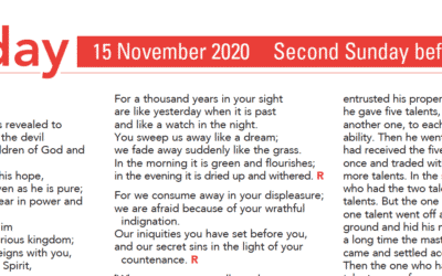 Liturgy Pew Sheet for Sunday 15th Nov