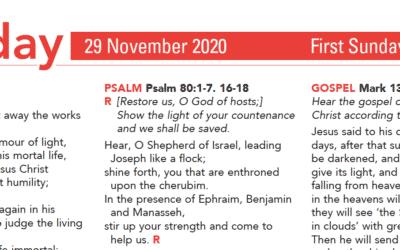 Liturgy Pew Sheet for Sunday 29th Nov