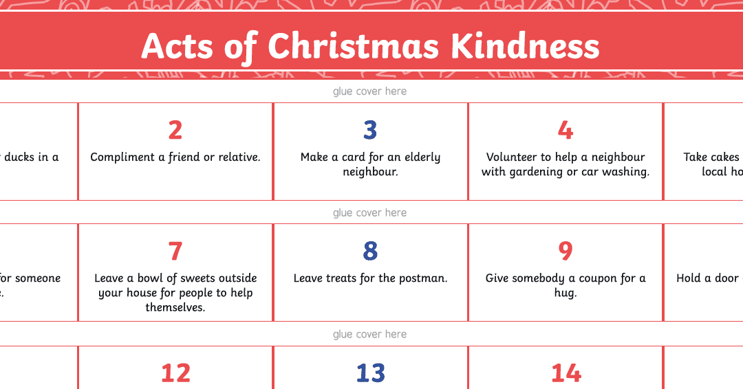 Acts of Kindness for Christmas