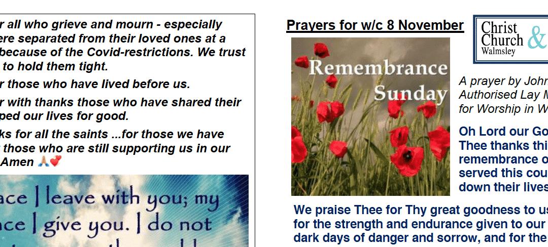 Prayer Booklet from Walmsley Parish Sunday 8th Nov