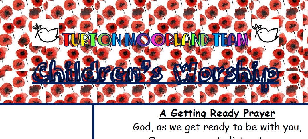 Turton Moorland Team Children's Worship Sunday 8th Nov