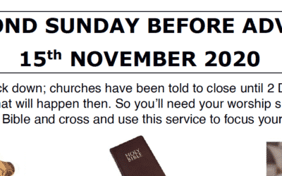 Sunday Worship to Read by St Maxentius Sunday 15th Nov