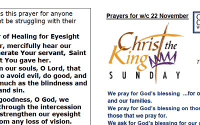 Prayer Booklet from Walmsley Parish Sunday 20th Nov