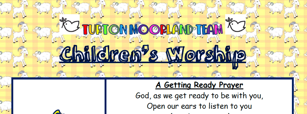 Turton Moorland Team Children's Worship Sunday 20th Nov
