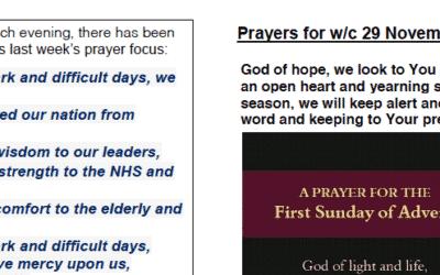 Prayer Booklet from Walmsley Parish Sunday 27th Nov